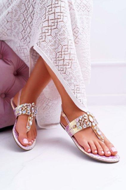 Dámske ploché sandále farba ružová kód obuvi MARLO-18 PINK