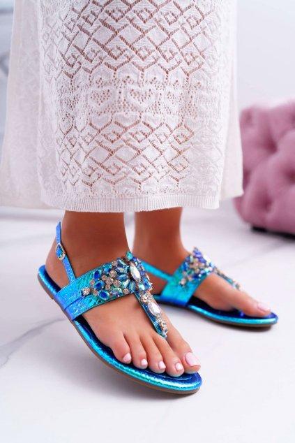Dámske sandále farba modrá kód obuvi MARLO-18 BLUE