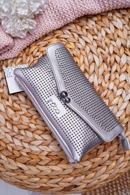 Dámska večerná kabelka Nobo strieborná G1510-C022