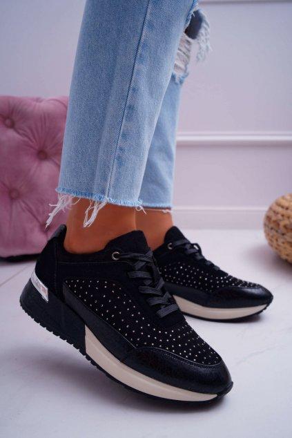 Dámska čierna športová obuv Sergio Leone Ondar