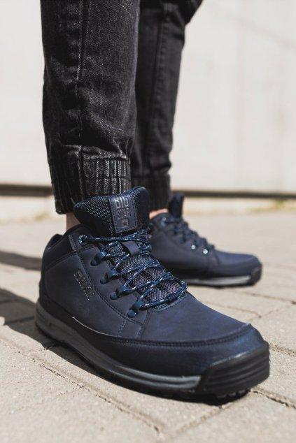 Pánske trekingové topánky farba modrá kód obuvi EE274817 NAVY