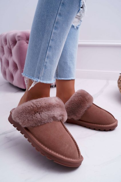 Dámske papuče khaki Mirendy