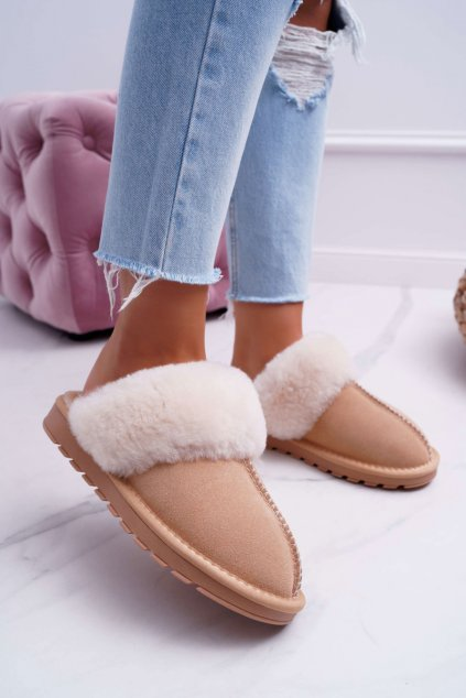 Dámske papuče béžové Mirendy