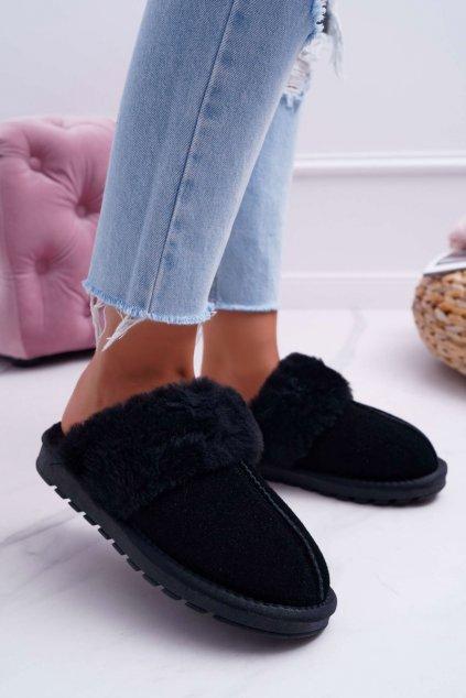 Dámske papuče čierne Mirendy