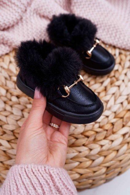 Detské tenisky farba čierna kód obuvi 1582 BLK