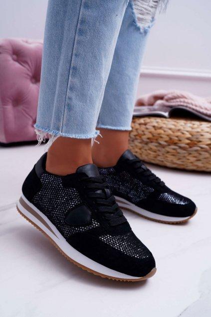 Dámska čierna športová obuv Mundo