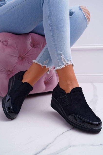 Dámske tenisky farba čierna kód obuvi PB225 BLK MIC