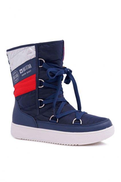Dámske snehule farba modrá kód obuvi EE274657 NAVY