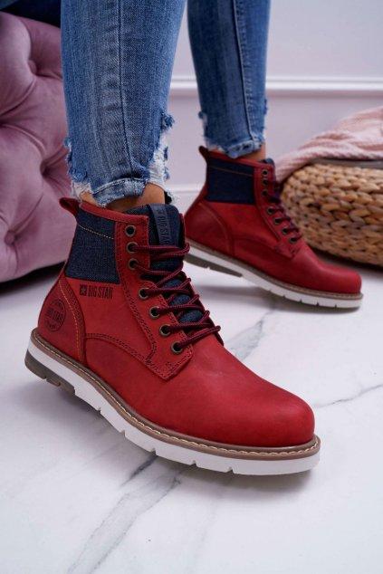 Členkové topánky na podpätku farba červená kód obuvi EE274006 BURGUNDY