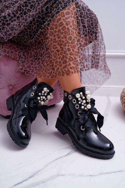 Dámske členkové topánky zateplené Sia