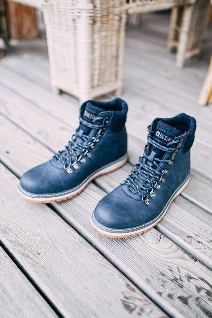 Pánske topánky na zimu farba modrá kód obuvi EE174403 NAVY