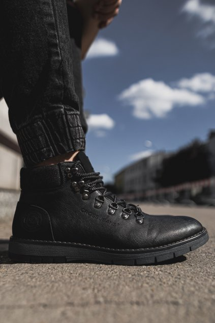 pánske Vysoké Traperky Cross Jeans čierne EE1R4081C