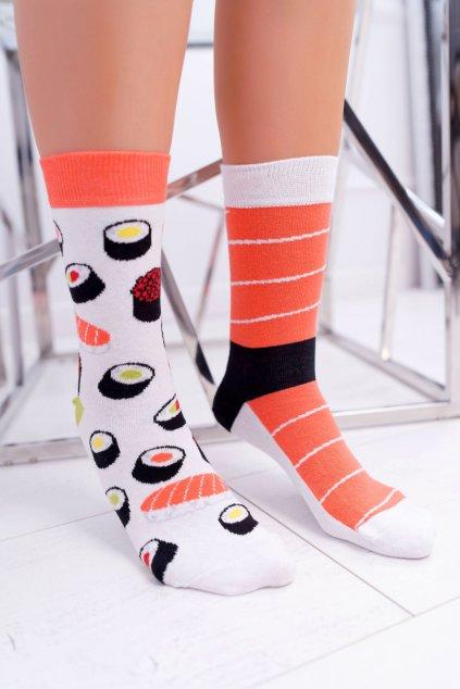 """Dámske ponožky SOXO Good Stuff """"každá iná"""" Sushi"""
