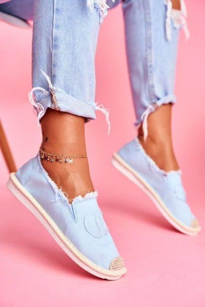 Dámske espadrilky farba modrá kód obuvi NB273 L.BLUE