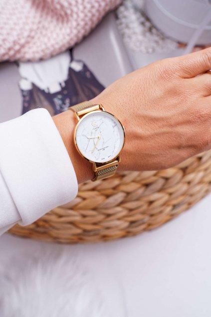 Dámske hodinky GG Luxe zlatý ciferník Bemas