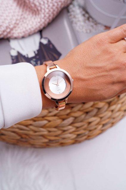 Dámske Hodinky Clock'Up ružové zlaté Savage