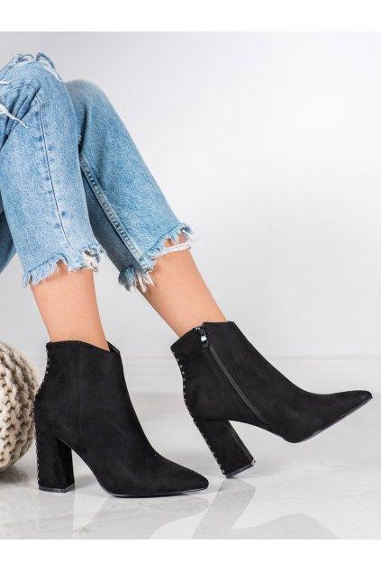 Čierne dámske topánky Seastar kod RB23B