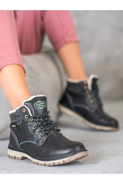 Čierne dámske topánky na plochom podpätku Arrigo bello kod BM9047B