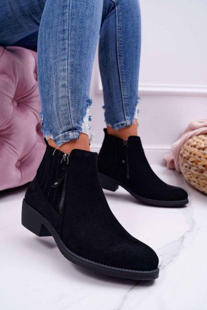Dámske topánky Sergio Leone čierne BT500 Jeronte