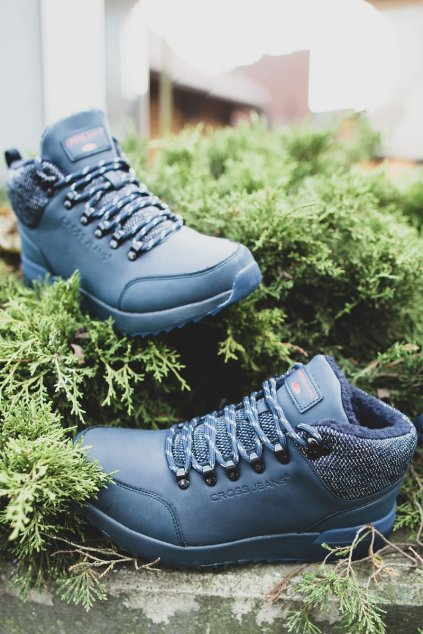 Pánske trekingové topánky farba modrá kód obuvi EE1R4115C NAVY