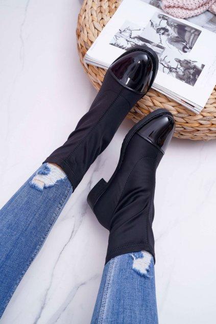 Dámske topánky členkové čierne Beat