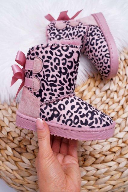 Detské Snehule s kožušinou Ružové Fiona 20230-CD/2C Pink