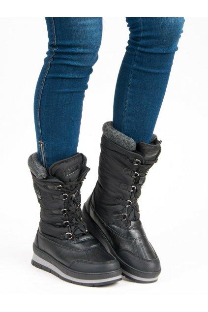 Čierne dámske snehule dámske - Mckeylor ANN19-14406B