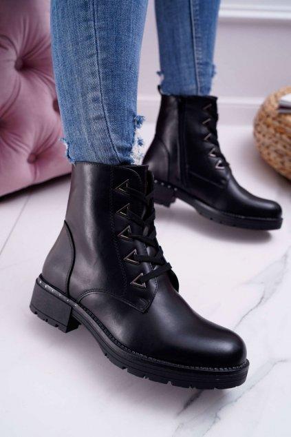 Dámske členkové topánky čierne Sergio Leone TR718
