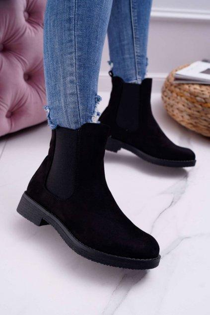 Dámske topánky Pérka čierne 8BT35-0585