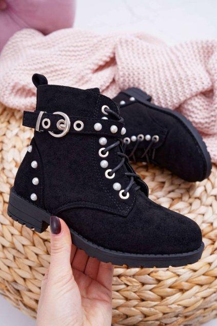 Detské členkové topánky čierne Nargos