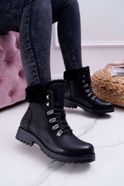 Dámske členkové topánky čierne Ergost