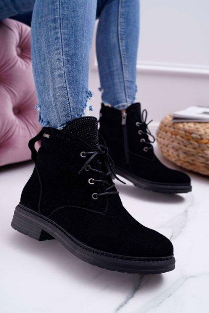 Dámske členkové topánky workery B. Star čierne EE274508
