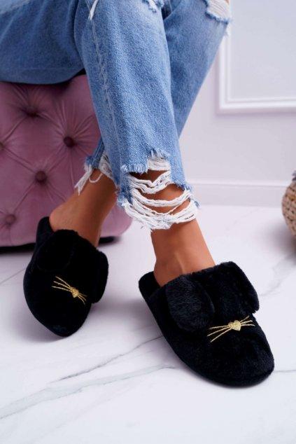 Dámske šľapky farba čierna kód obuvi KP02-4 BLK