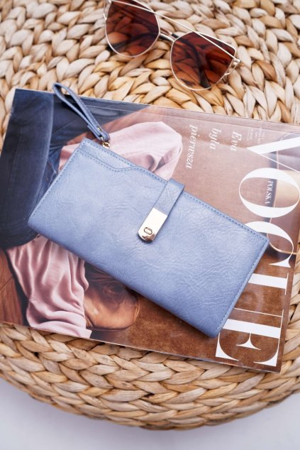 Dámska Peňaženka Velká Klasická Modrá AD-64
