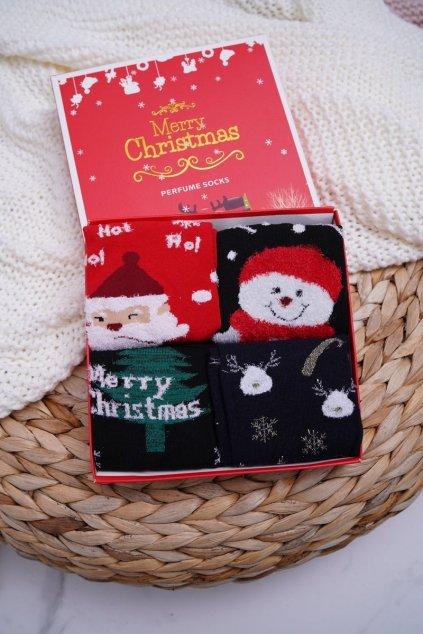 Dámske aromatické Ponožky Sada 4 Páru vianočné COSAS A2