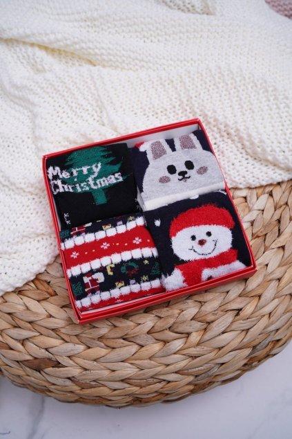 Dámske aromatické Ponožky Sada 4 Páru vianočné COSAS A4