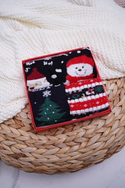 Dámske aromatické Ponožky Sada 4 Páru vianočné COSAS A7
