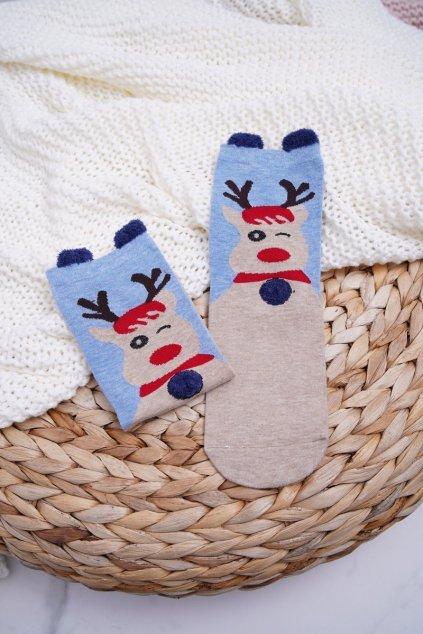 Dámske Ponožky vianočné s Ušima Sobi