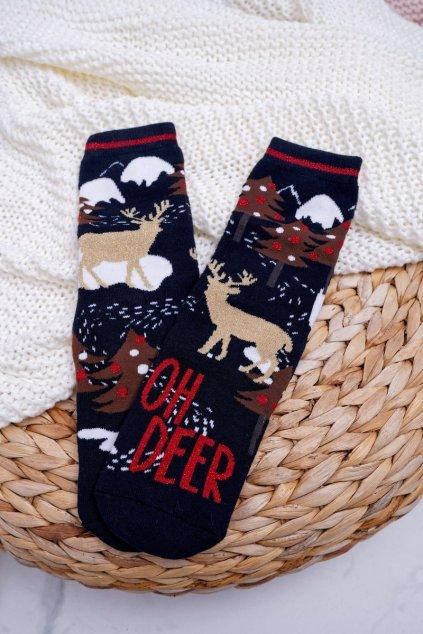 Dámske ponožky farba modrá kód SNPVX02 NAVY OH DEER