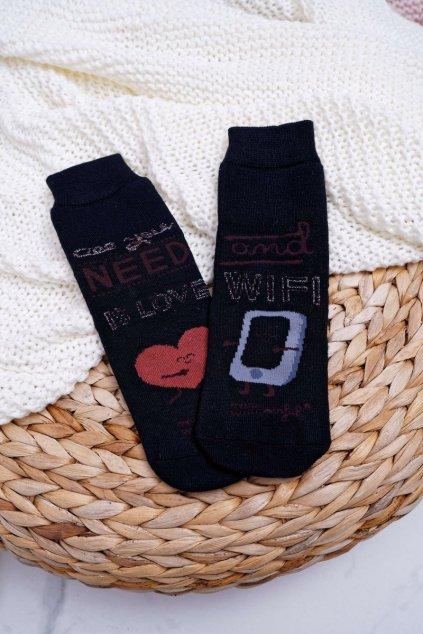 Dámske ponožky farba čierna kód NPV65 ALL YOU NEED