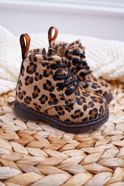 Detské topánky so zipsom Leopard Lilo