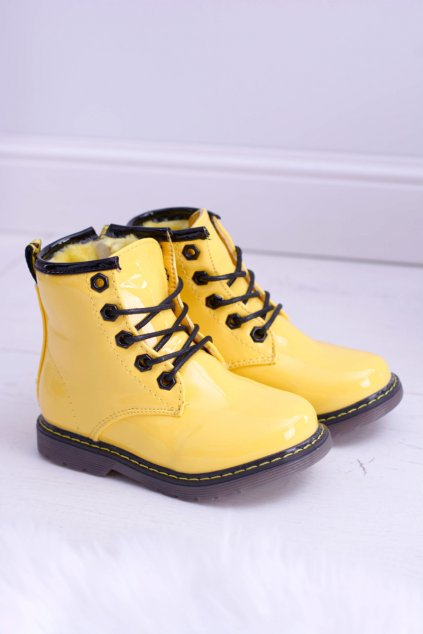 Detské topánky lakované žlté Ferrero 20310-2J YELLOW
