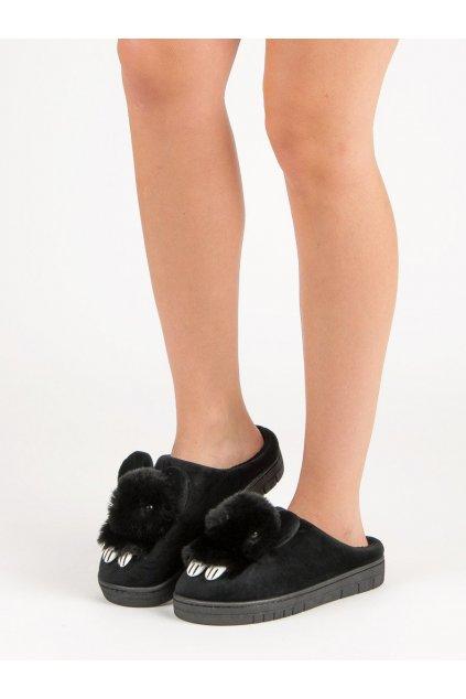 Čierne dámska obuv na doma - Shelovet kod MA02B