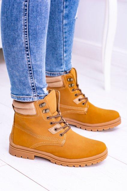 ťavia klasicke topánky Naila 16-007 CAMEL