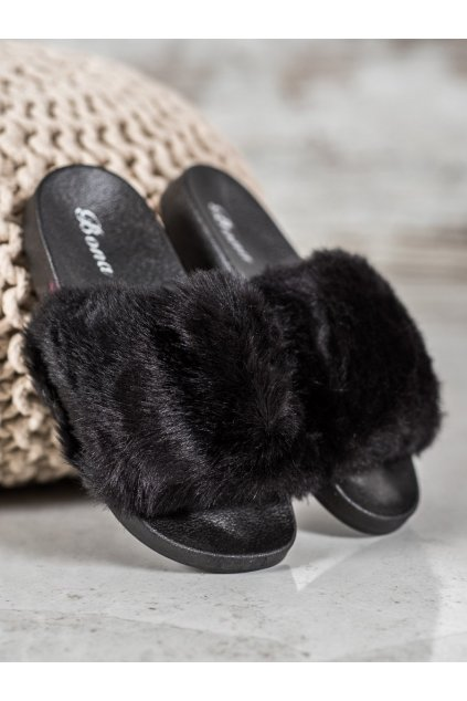Čierne dámske papuče na doma - Bona kod SX-1B