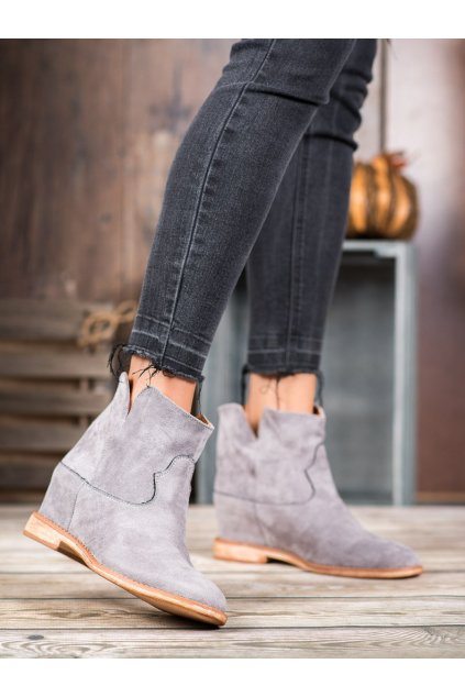 Sivé dámske topánky Bella paris kod A3708G