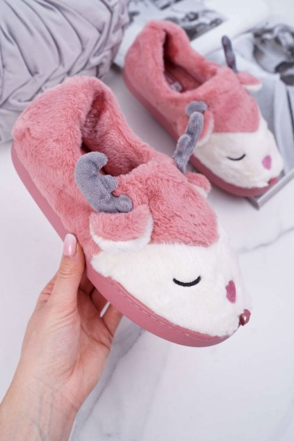 Dámske šľapky farba ružová kód obuvi MD0245 D.PINK