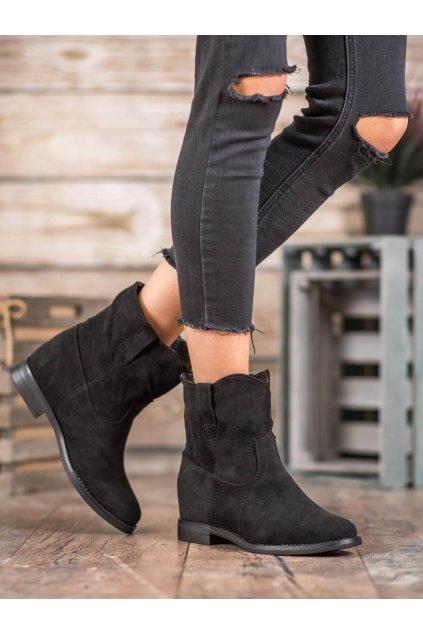 Čierne dámske topánky na platforme Seastar kod NC952B