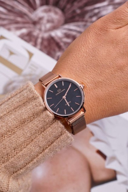Dámske hodinky Giorgio & Dario s magnetom ružové zlato magnum