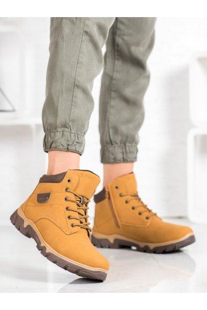 Hnedé trekkingové dámske topánky Mckeylor kod OCA19-2135Y